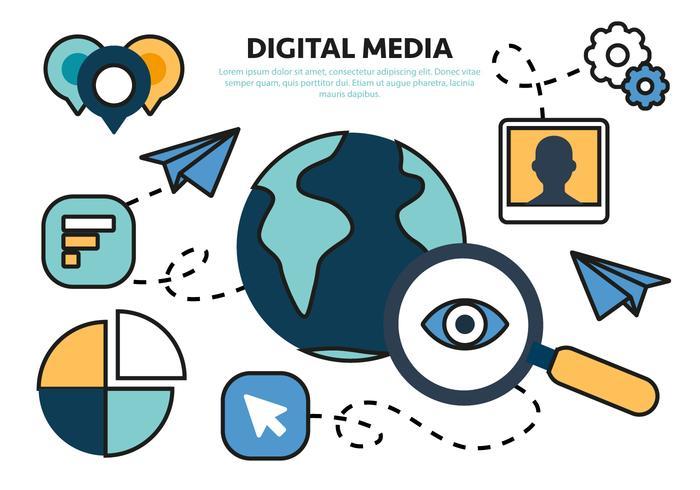 Free Flat Digital Marketing Concept Vector - Download Free Vector