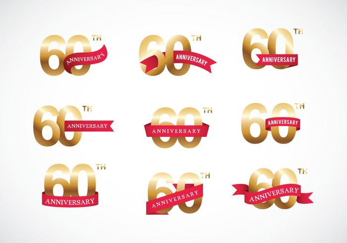 Free 60th Anniversary Vector - Download Free Vector Art, Stock - free anniversary images