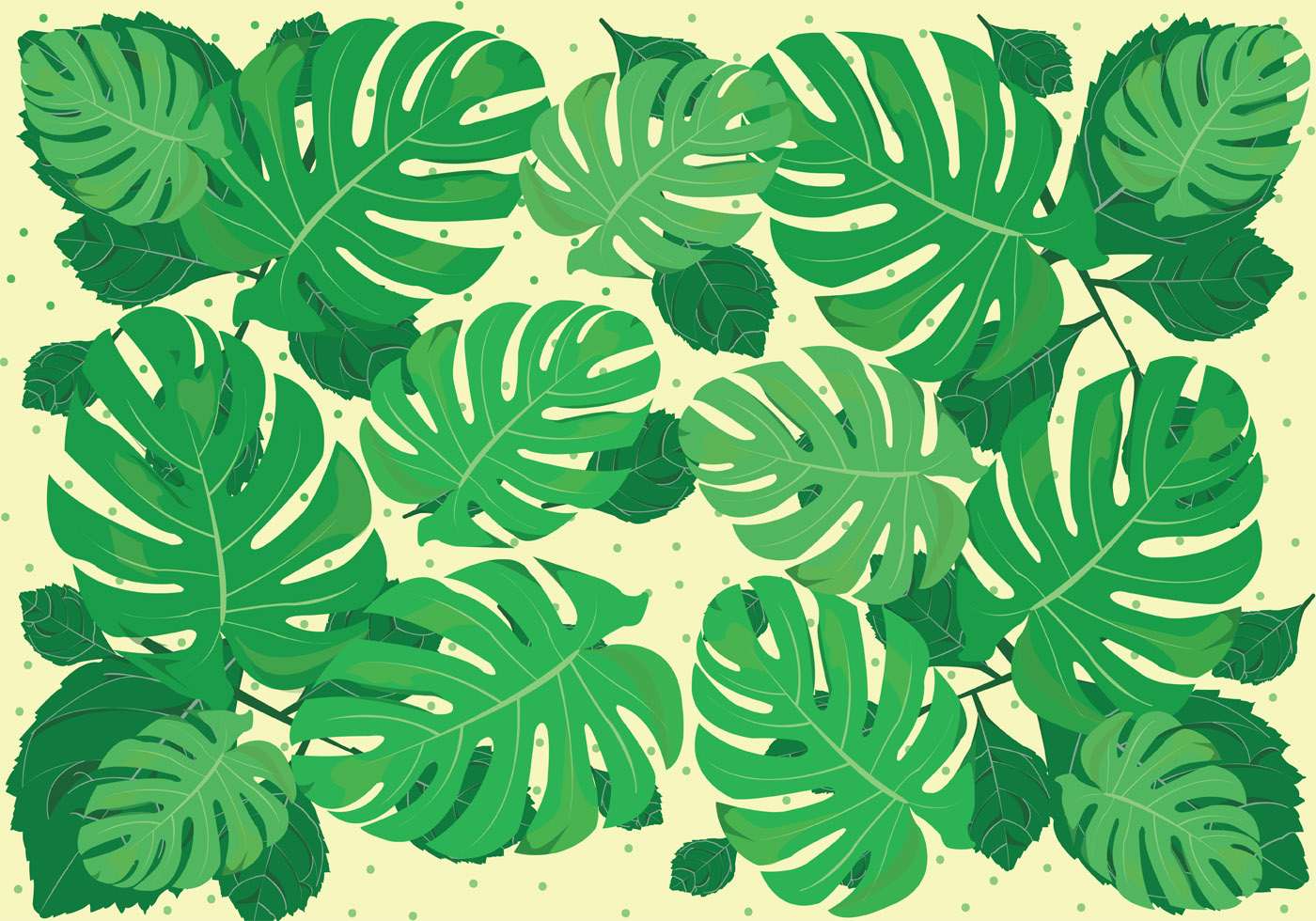 Green Animal Print Wallpaper Jungle Leaves Free Vector Art 7303 Free Downloads