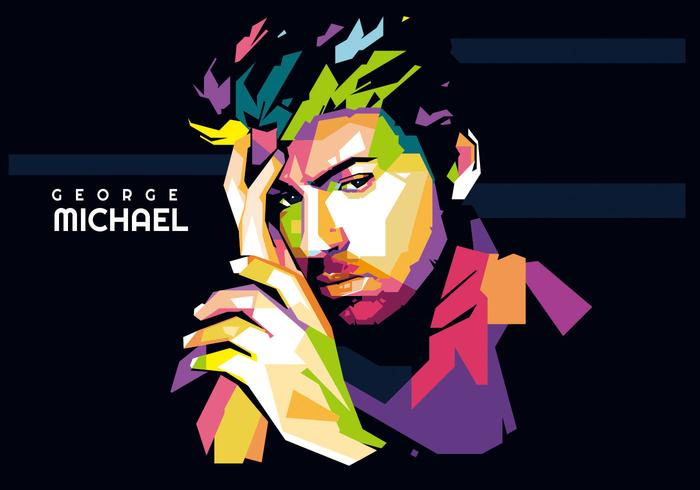 Pop Art Comic Girl Wallpaper George Michael Wpap Vector Download Free Vector Art