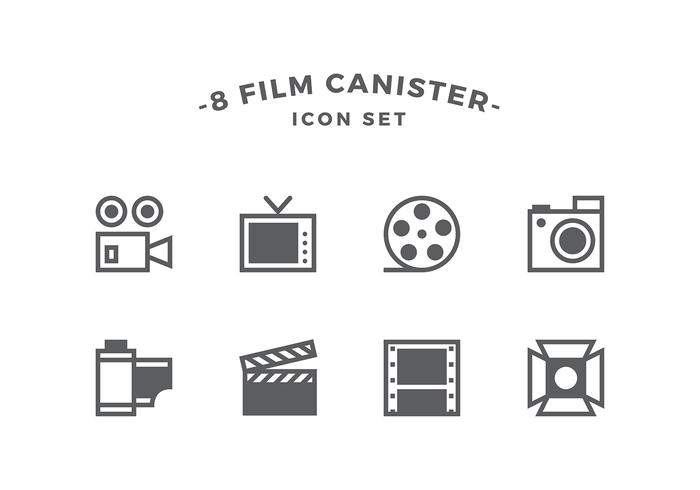 free movie line icon set vector auto electrical wiring diagramfilm canister line icon set vector