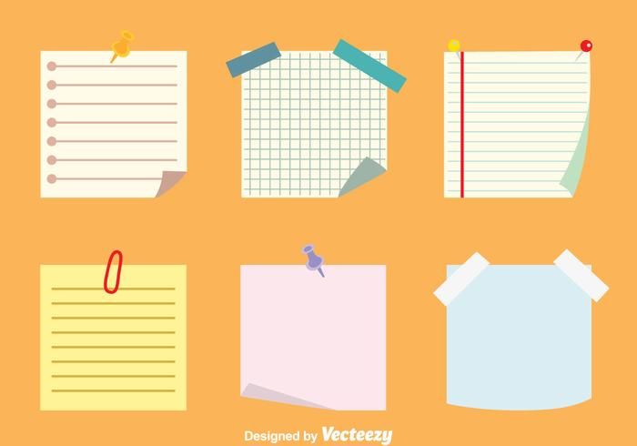 Sticky Notes Vectors Set - Download Free Vector Art, Stock Graphics - stickey notes