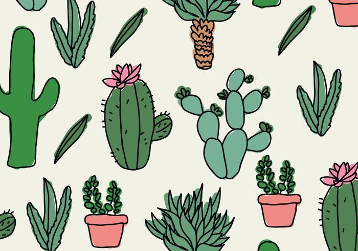 Cute Llama Wallpaper Desktop Patr 243 N De Cactus Garabatos Descargue Gr 225 Ficos Y Vectores