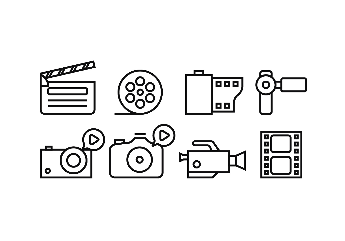 free movie line icon set vector auto electrical wiring diagram