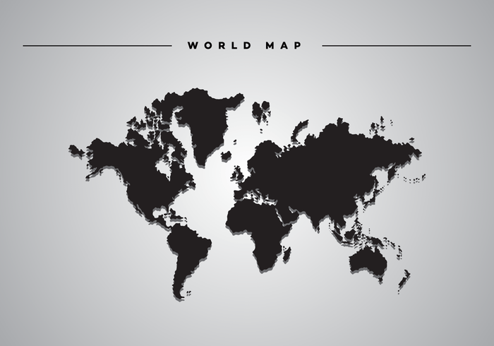 Black White Modern Wallpaper Drop Shadow World Map Vector Download Free Vector Art