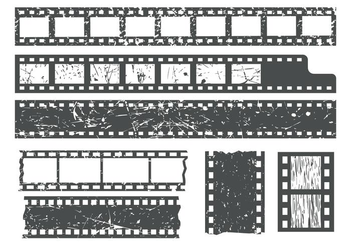 Free Film Strips WIth Grain Texture Vector - Download Free Vector