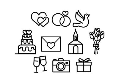 Wedding Icons Free Vector Art - (74096 Free Downloads)
