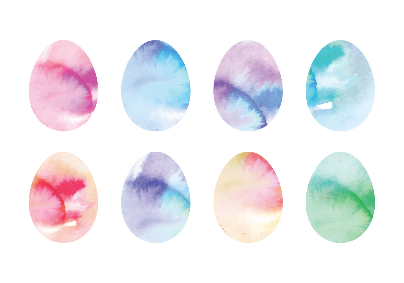 Cute Bordered Pastel Flower Wallpaper Vector Coloful Watercolor Easter Eggs Download Free