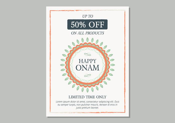 Onam Sale Poster Template - Download Free Vector Art, Stock Graphics - for sale poster template
