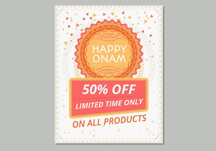 Happy Onam Sale Poster Template - Download Free Vector Art, Stock - for sale poster template