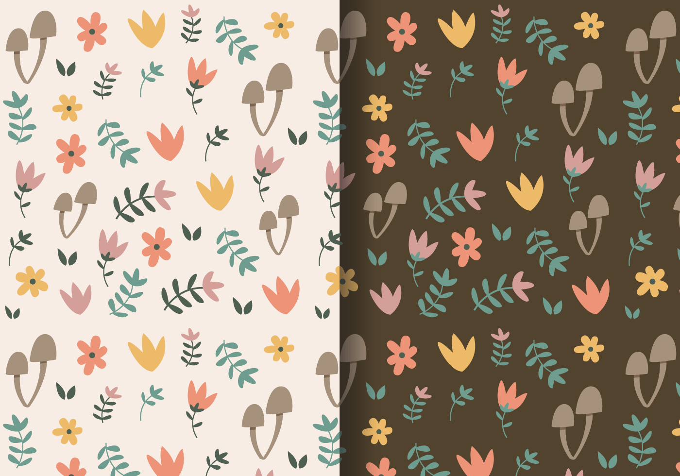 Free Wallpapers Fall Season Free Autumn Floral Pattern Download Free Vector Art