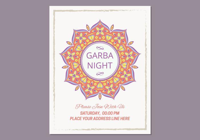 Garba Poster Template - Download Free Vector Art, Stock Graphics