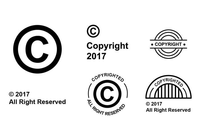 Flat Copyright Symbol Vector Set - Download Free Vector Art, Stock