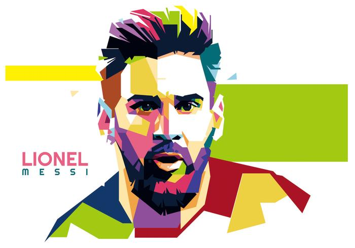 3d Wallpapers Messi Lionel Messi Vector Wpap Download Free Vector Art Stock