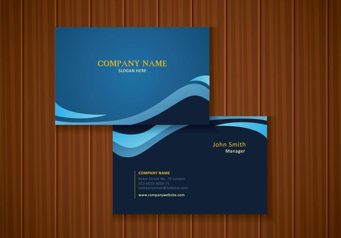 Free Stylish Blue Business Card Design - Download Free Vector Art