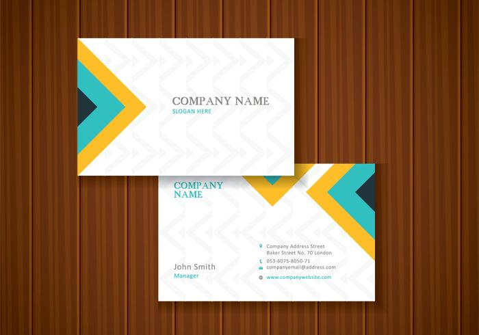 Free Colorful Stylish Business Card Template Design - Download Free - business card template design
