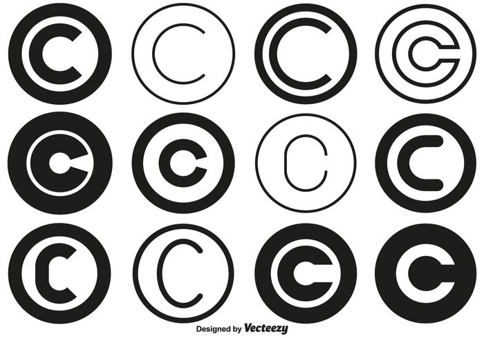 Vector Copyright Symbol Collection - Download Free Vector Art, Stock