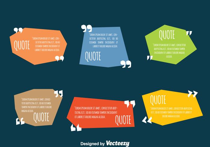 Colored Testimonial Quote Design Template Vectors - Download Free - quotation design template