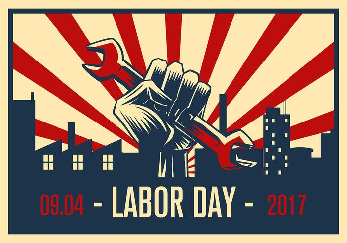Labor Day Propaganda Poster Free Vector - Download Free Vector Art