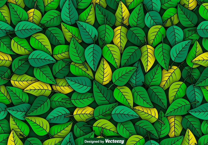 Free Fall Foliage Wallpaper Vector Green Leaves Seamless Pattern Download Free