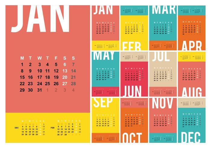 Free Desktop Calendar 2018 Template Illustration - Download Free