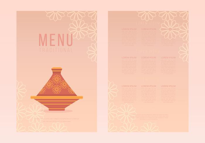 Tajine Moroccan Traditional Food Menu Templates - Download Free