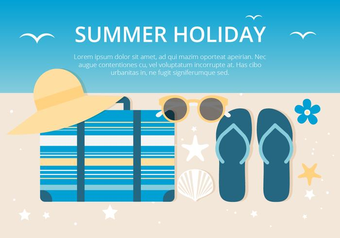 Free Summer Holiday Background - Download Free Vector Art, Stock
