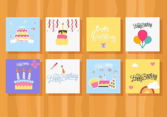 Colección de tarjetas de cumpleaños gratis - Descargue Gráficos y