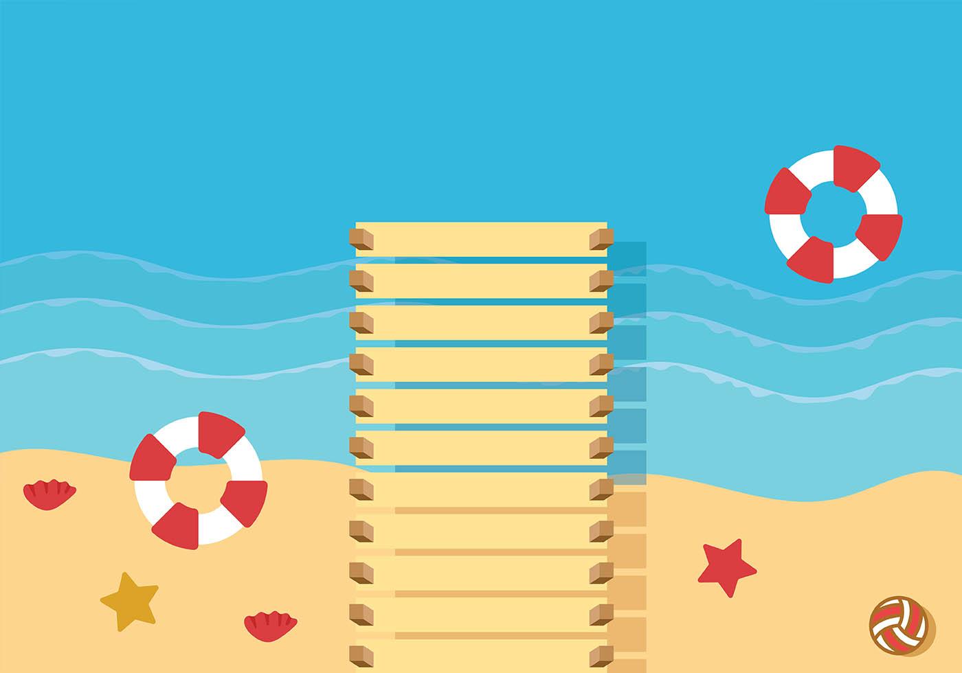 Boardwalk Background Vector Download Free Vector Art