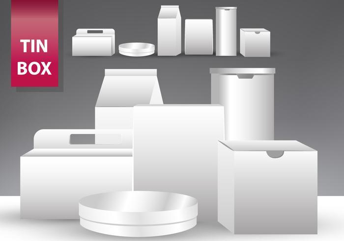 Set Of Tin Box Templates Download Free Vector Art Stock