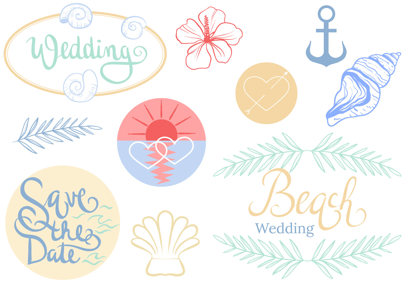 Cute Marriage Couple Wallpaper Free Beach Wedding Vectors Download Free Vector Art