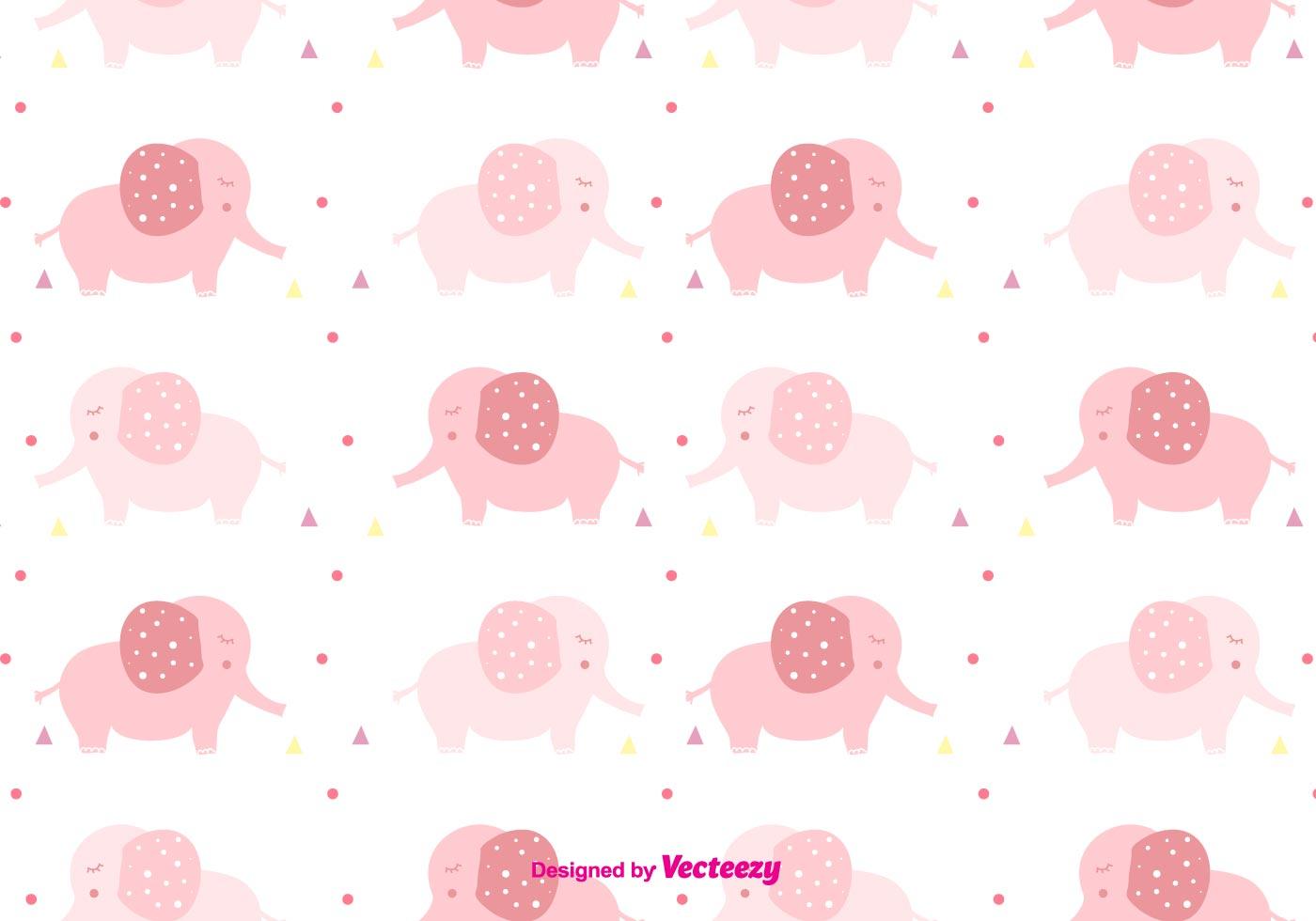 Baby Girl Nursery Wallpaper Borders Girly Baby Elephant Pattern Download Free Vector Art
