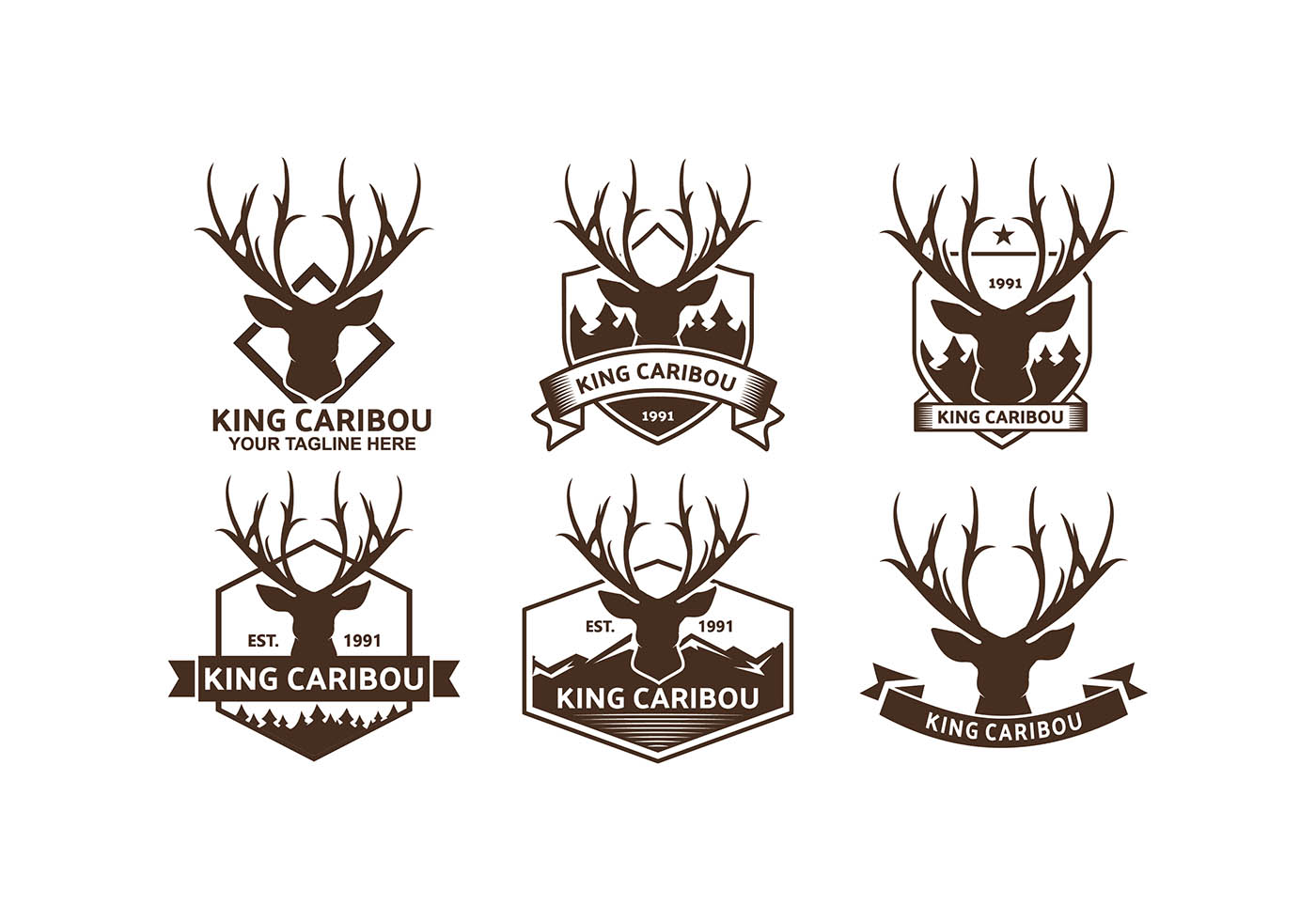 Arte Logo Eps Caribou Logos Free Vector Download Free Vector Art