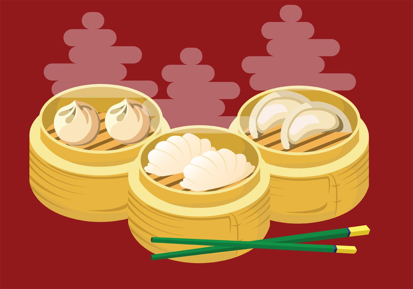 Cute Chinese Cartoon Wallpaper Dumplings Vector Art Download Free Vector Art Stock