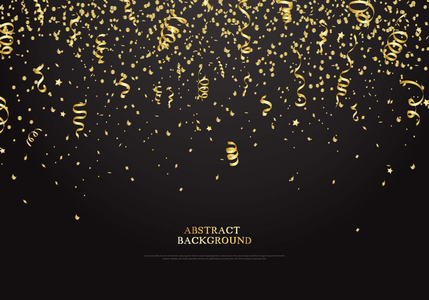 Falling Glitter Confetti Wallpapers Golden Serpentine Background Download Free Vector Art