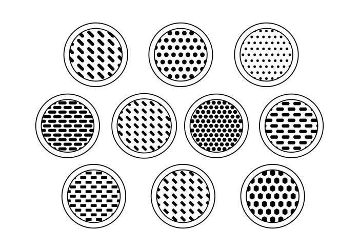 Free Speaker Grill Collection Vectors Download Free