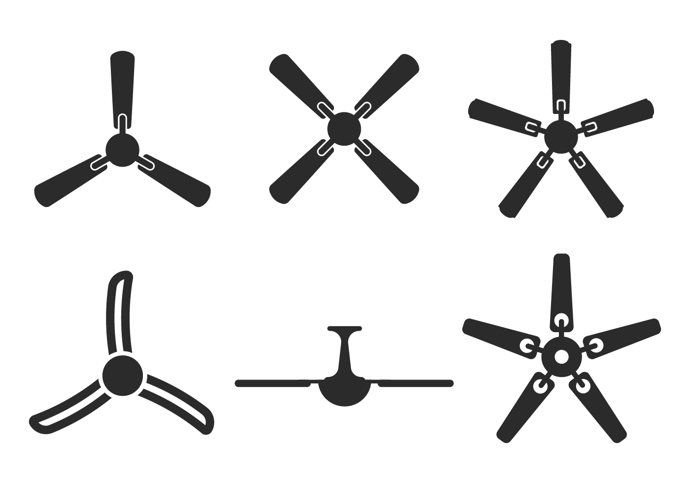 Ceiling Design Vector Ceiling Fan Silhouette Vector From Bottom View Download
