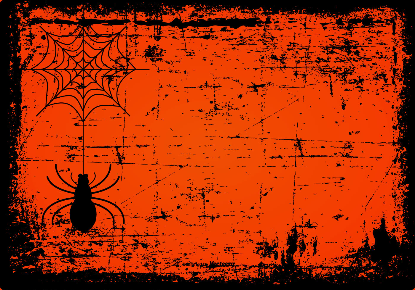 Free Fall Pumpkin Wallpaper Grunge Spooky Halloween Background Download Free Vector
