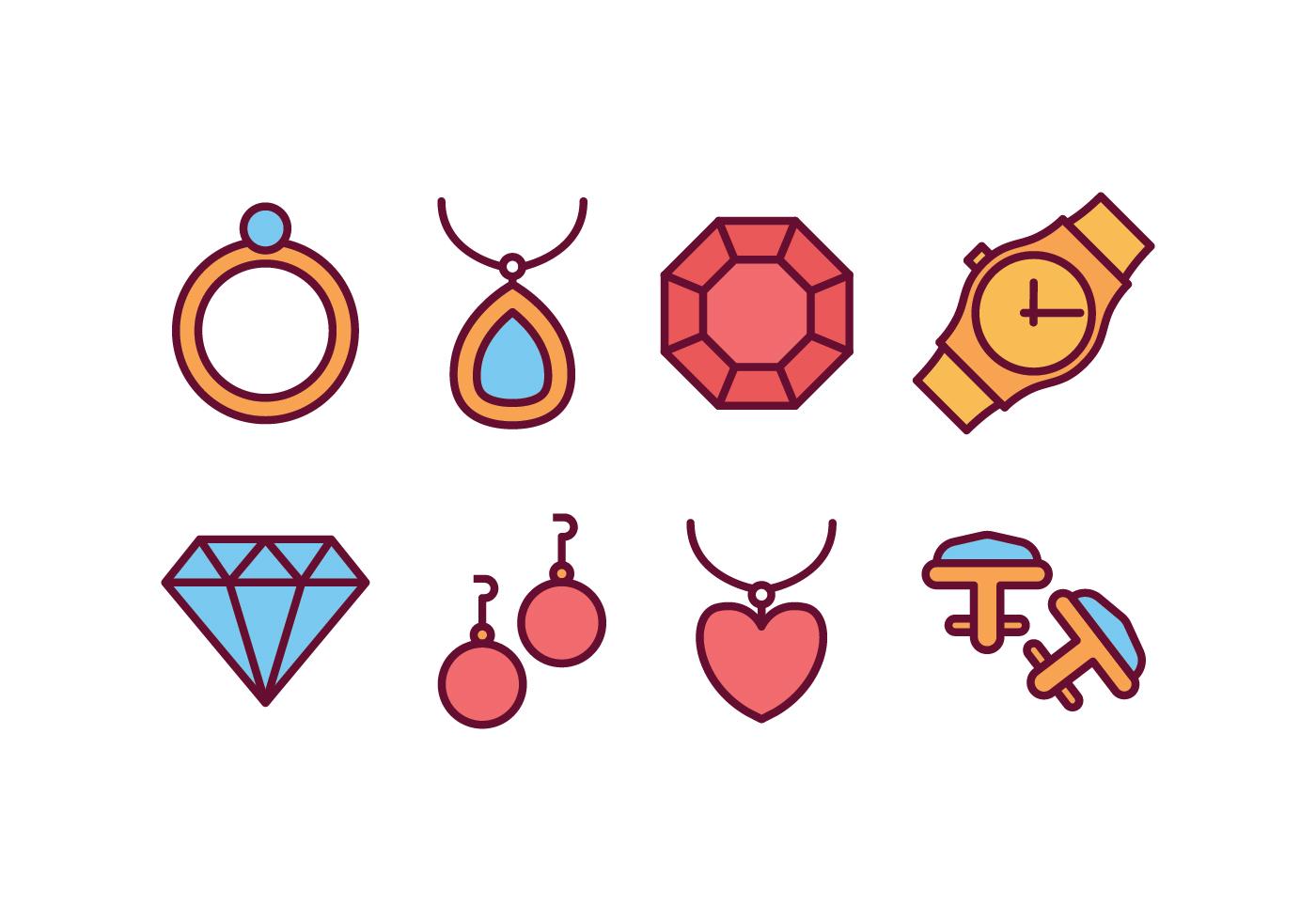 Paquete De Iconos De Joyas Descargue Graficos Y Vectores