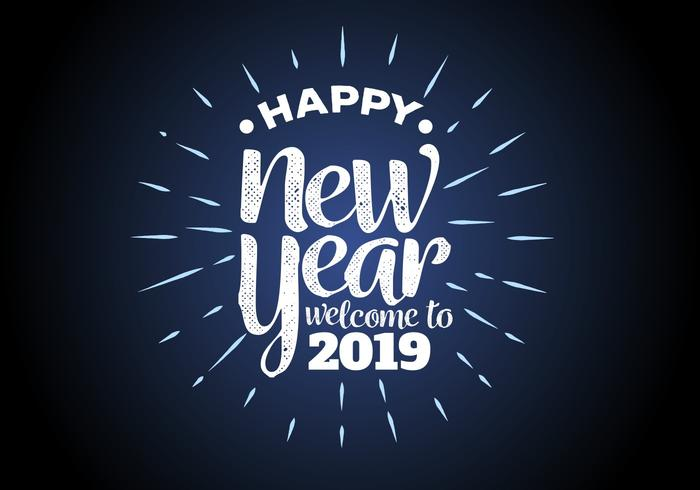 Happy New Year 2019 Background Vector Illustration - Download Free