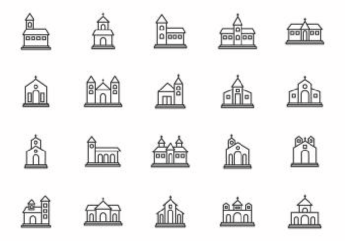 Free Abbey and Church Vectors - Download Free Vector Art, Stock