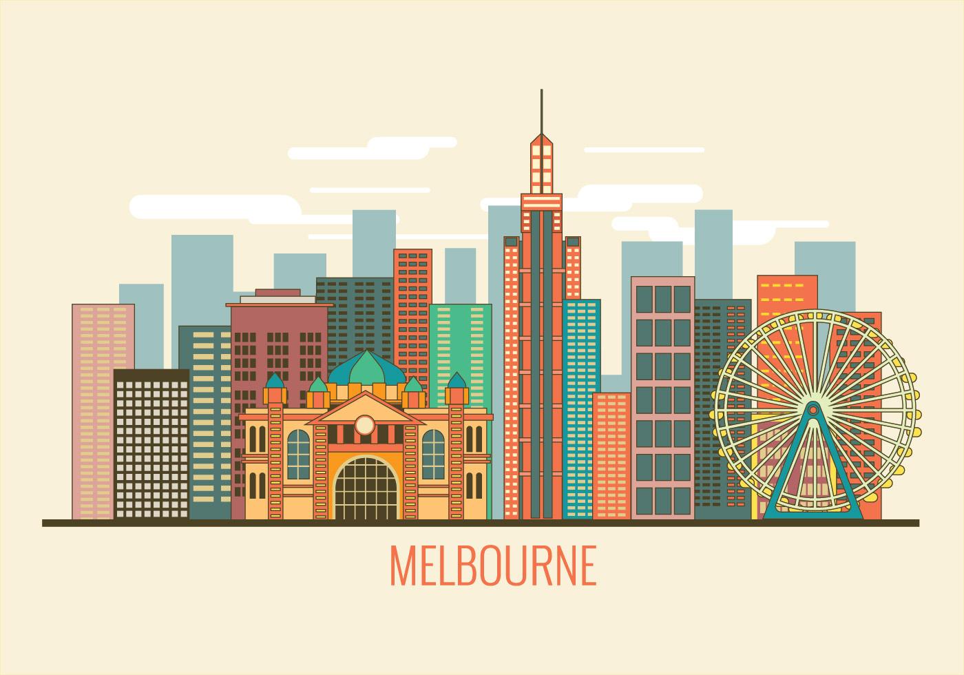 Shutterstock Wallpaper 3d Cityscape Image Of Melbourne Australia Vector Download