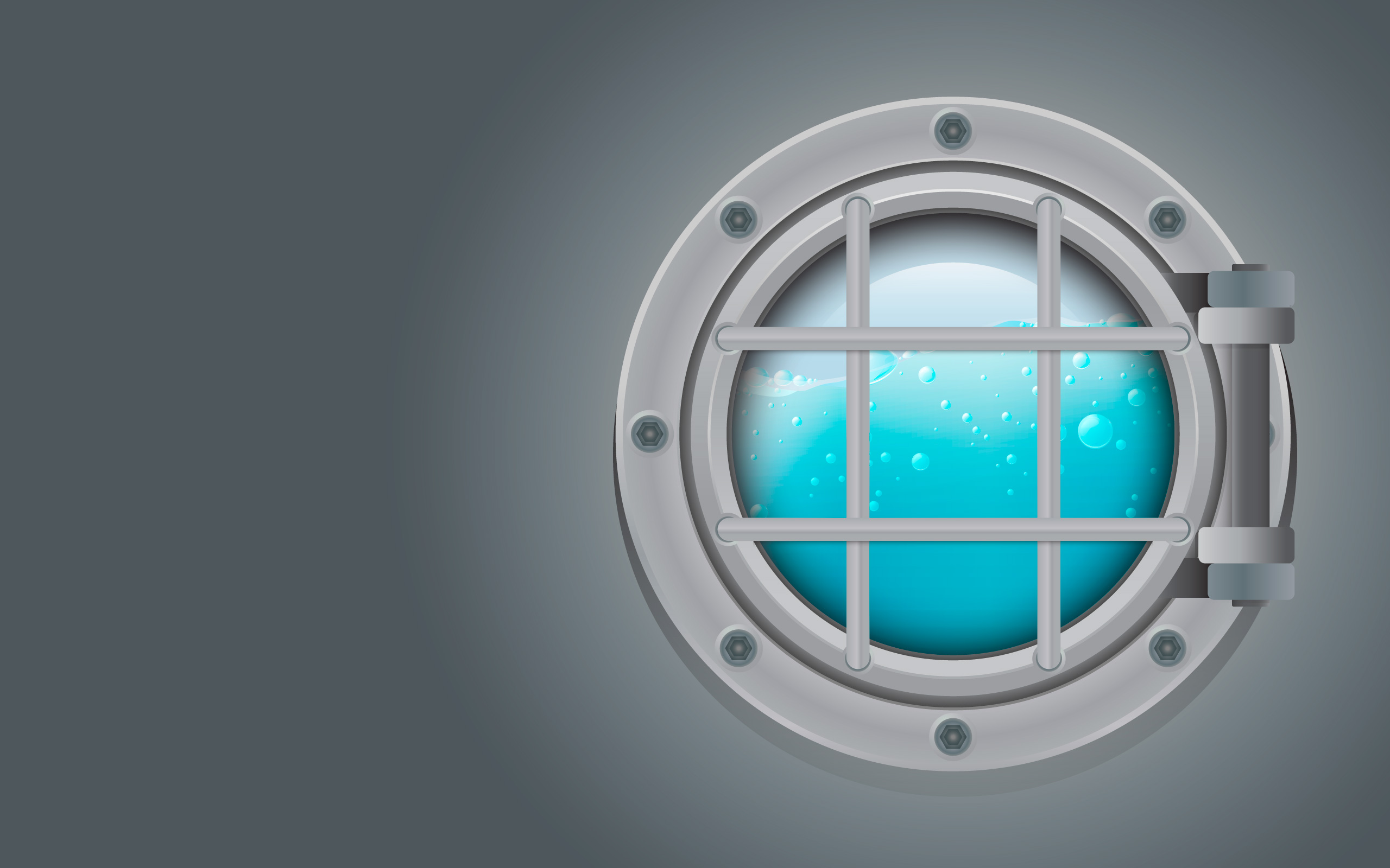 Jet Shower Submarine Metal Side Porthole For Underwater Vector