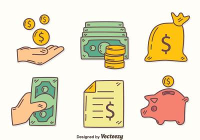 Hand Drawn Revenue Element Vector - Download Free Vector ...