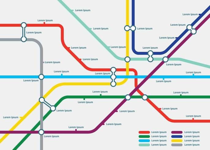 Free Tube Map Template Illustration - Download Free Vector Art - Map Template