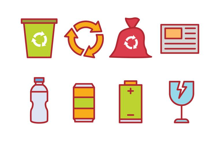 Recycling Waste Sorting Icon Pack Download Free Vector