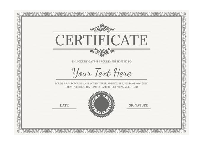 Vector Certificate Template - Download Free Vector Art, Stock