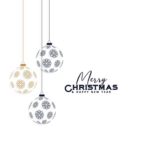 elegant christmas background with hanging balls made with snowfl