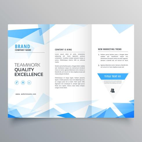 abstract blue shape trifold business brochure design - Download Free - tri brochures