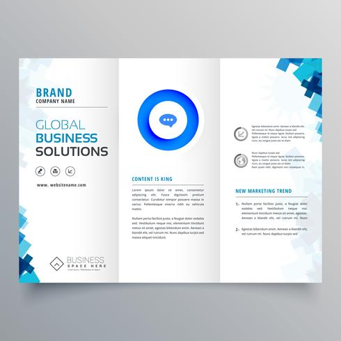 trifold business brochure vector design template - Download Free - tri fold business brochure